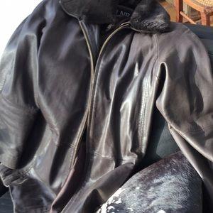 Men's leather jacket, L